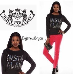 Juicy Couture Black INSTA GLAM Sweatshirt